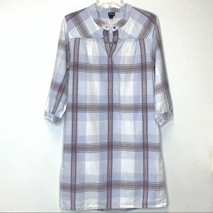 Patagonia Shirt Dress Plaid Neutrals Size 4